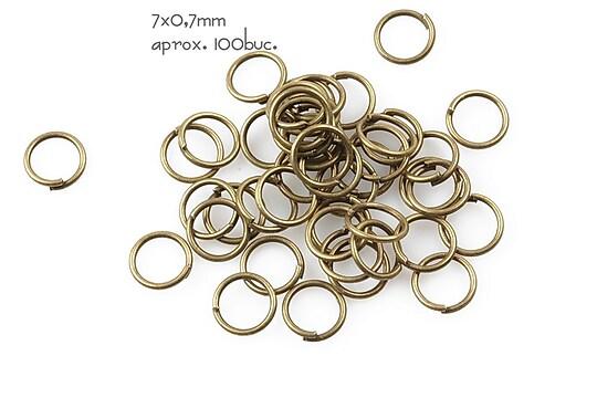 Zale bronz 7mm (grosime 0,7mm)