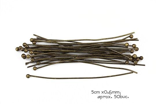 Ace cu bila bronz 5cm, grosime 0,6mm (50 buc.)