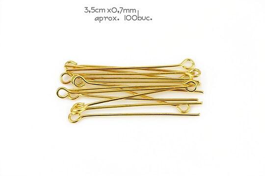 Ace cu bucla aurii 3,5cm