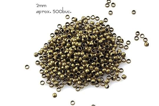 Crimp bronz 2mm (3g - aprox. 500 buc.)