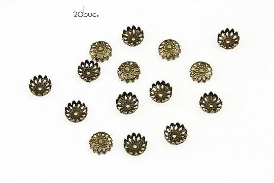 Capacele filigranate bronz 6mm (20buc.)