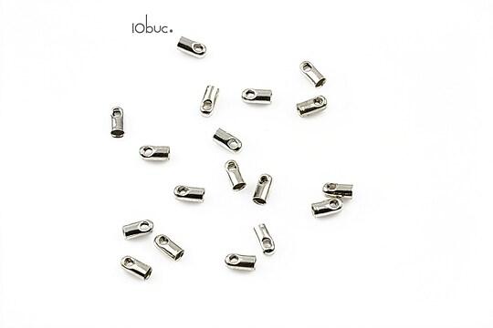 Capat snur argintiu inchis, interior 1,5mm (10buc.)