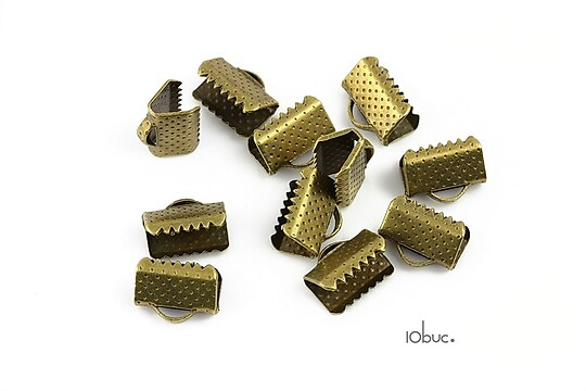 Capat snur bronz 10mm (10buc.)