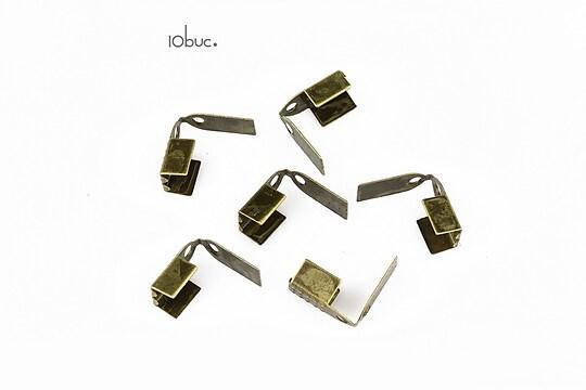 Capat snur bronz latime 5mm (10buc.)