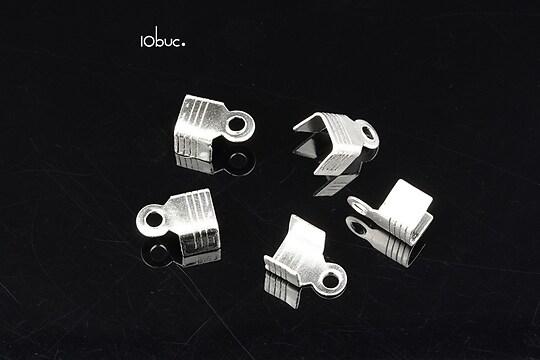 Capat snur argintiu 10x6mm (10buc.)