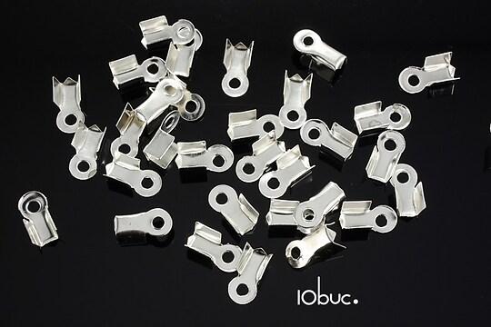 Capat snur argintiu 3mm (8x4x3mm) (10buc.)