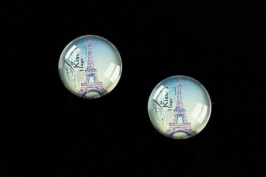 """Cabochon sticla 16mm """"Le Tour Eiffel"""" cod 457"""