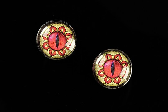 "Cabochon sticla 16mm ""Dragon Eye"" cod 467"