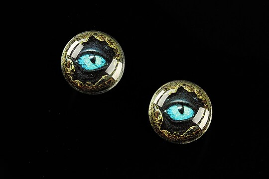 "Cabochon sticla 16mm ""Dragon Eye"" cod 471"