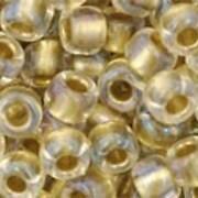 Margele Toho rotunde 6/0 - Inside-Color Crystal/Gold Lined