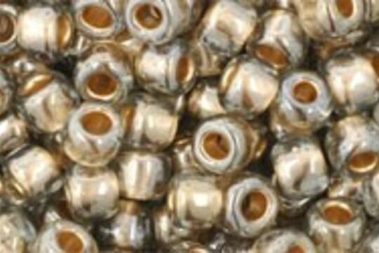 Margele Toho rotunde 6/0 - Gold-Lined Black Diamond