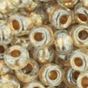 Margele Toho rotunde 6/0 - Gold-Lined Crystal