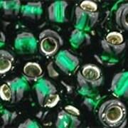 Margele Toho rotunde 6/0 - Silver-Lined Green Emerald