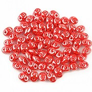 Margele Super Duo 2.5x5mm - Luster - Coral Red