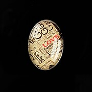 "Cabochon sticla 25x18mm ""Scrapbook Stuff"" cod 485"