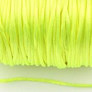 Snur sintetic satinat grosime 2mm (5m) - verde neon