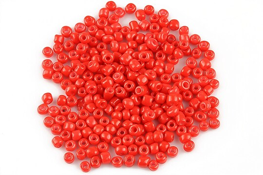 Margele de nisip 3mm opace (50g) - cod 399 - rosu