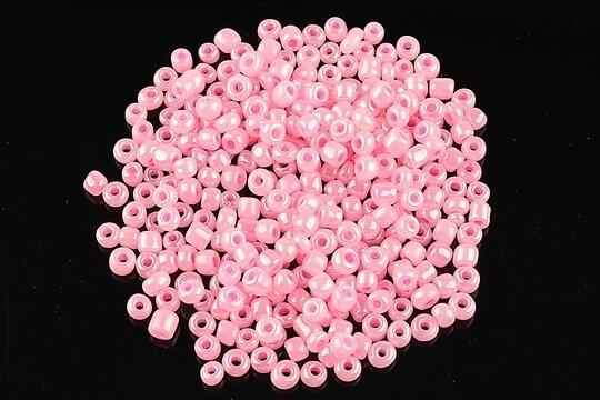 Margele de nisip 3mm perlate (50g) - cod 424 - roz neon