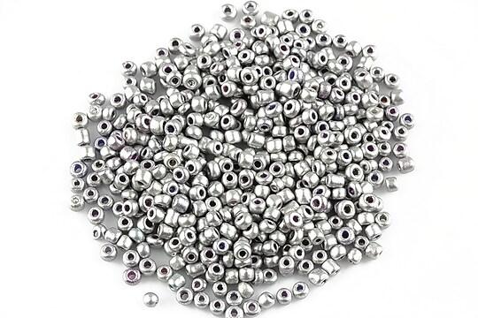Margele de nisip frosted 2mm (50g) - cod 346 - argintiu