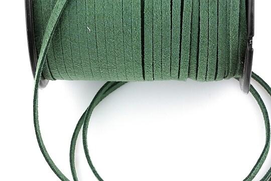 Snur suede (imitatie piele intoarsa) 3x1mm, verde-kaki (5m)