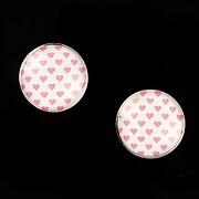 """Cabochon sticla 16mm """"Pink Chic"""" cod 650"""