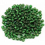 Margele de nisip cu foita 3mm (50g) - cod 445 - verde