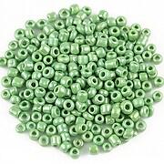 Margele de nisip lucioase 3mm (50g) - cod 483 - verde