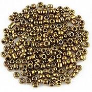 Margele de nisip lucioase 3mm (50g) - cod 488 - bronz auriu