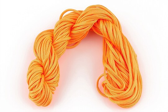 Ata nylon, grosime 2mm, 12m, portocaliu