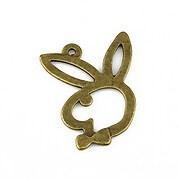 Pandantiv bronz iepuras Playboy 30x24mm