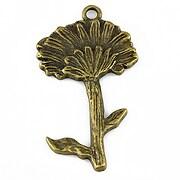Pandantiv bronz floare 49x28mm