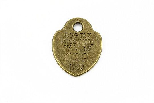 Pandantiv bronz placuta 27x22mm