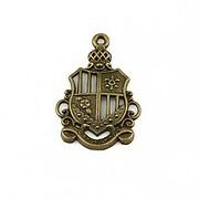 Charm bronz emblema 28x19mm