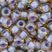 Margele Toho rotunde 8/0 - Inside-Color Lt Topaz/Opaque Lavender Lined