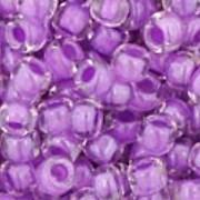 Margele Toho rotunde 8/0 - Inside-Color Crystal/Wisteria Lined