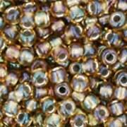 Margele Toho rotunde 11/0 - Inside-Color Rainbow Topaz/Olivine Lined