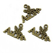 Charm bronz Aloha 14x21mm