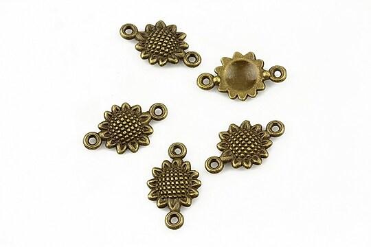Link bronz floarea soarelui 16x10mm