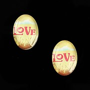 """Cabochon sticla 18x13mm """"This is love"""" cod 870"""