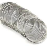 Sarma cu memorie din otel, argintiu inchis, diametru  5,5cm, grosime 0,6mm (10 spire)