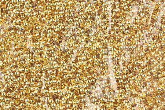 Crimp auriu 2mm (3g - aprox. 300 buc.)