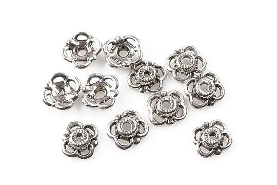 Capacele margele argint tibetan 9mm