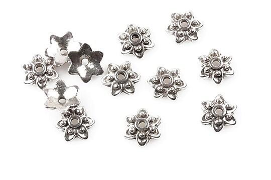 Capacele margele argint tibetan 10mm