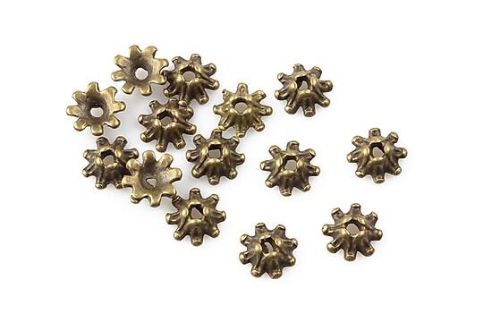 Capacele margele bronz 8mm (10 buc.)