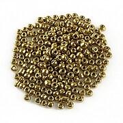 Margele de nisip metalizate 2mm (50g) - cod 563 - auriu inchis