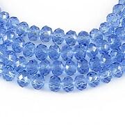 Cristale rondele 4x6mm - albastru transparent
