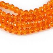 Cristale rondele 4x6mm - portocaliu transparent