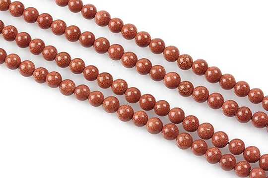 Goldstone sfere 4mm (10 buc.)