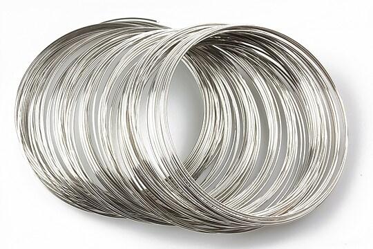 Sarma cu memorie otel inoxidabil, argintiu inchis 5,5cm, grosime 0,6mm (10 spire)