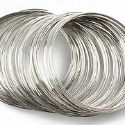 Sarma cu memorie din otel, argintiu inchis, diametru 6cm, grosime 0,6mm (10 spire)